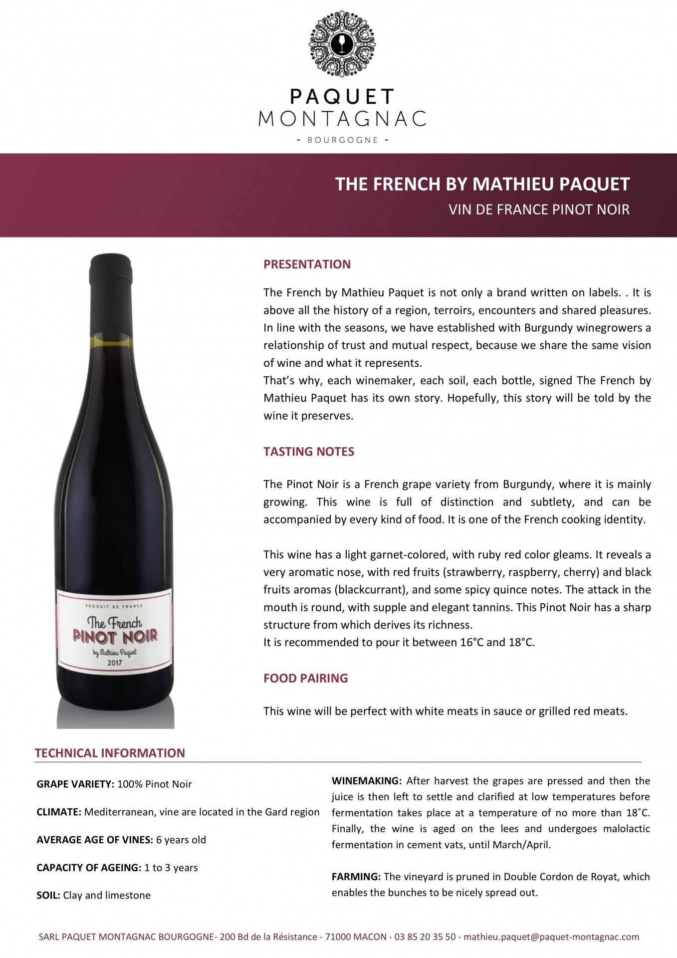 The French Pinot Noir